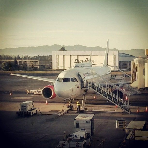 #plane #airport #fly #Medellín #colombia #morning #travel