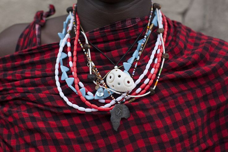 Mix of traditional Masai jewellery with Zanzibar souvenirs, seen at Nungwi…
