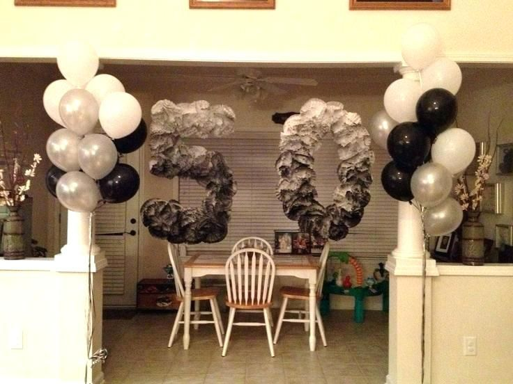 Birthday Decoration Ideas For Him Decorations Unique Best Decades Theme Party Images On Themes Mom 50th Centerpieces Centerpiece
