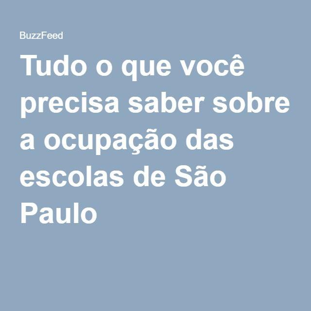 Tudo o que você precisa saber sobre a ocupação das escolas de São Paulo