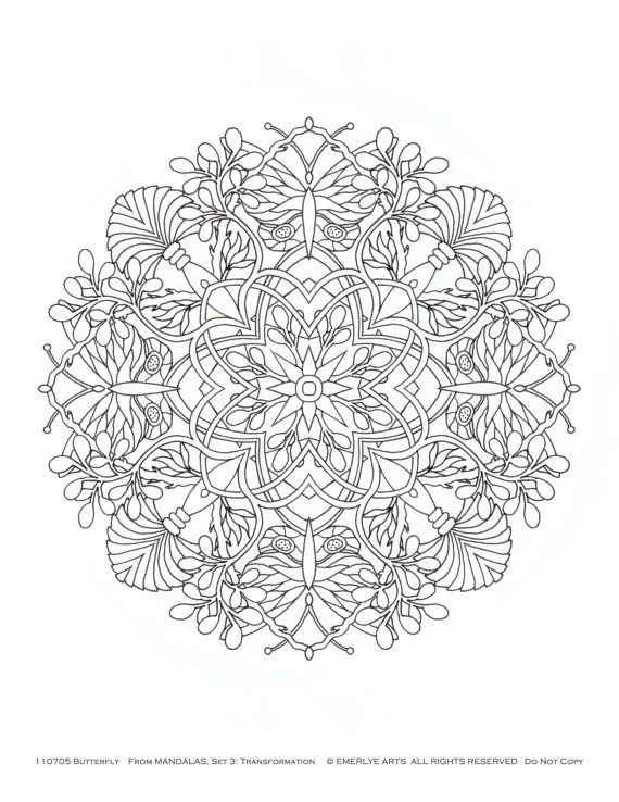 adult themed coloring pages - mandalas adult coloring pages transformation themed set
