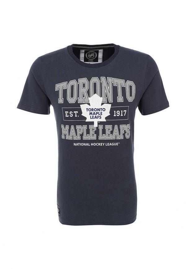Футболка Atributika & Club™ NHL Toronto Maple Leafs Футболка Atributika & Club™. Цвет: серый.  Сезон: Осень-зима 2016/2017. Одежда, обувь и аксессуары/Мужская одежда/Одежда/Футболки