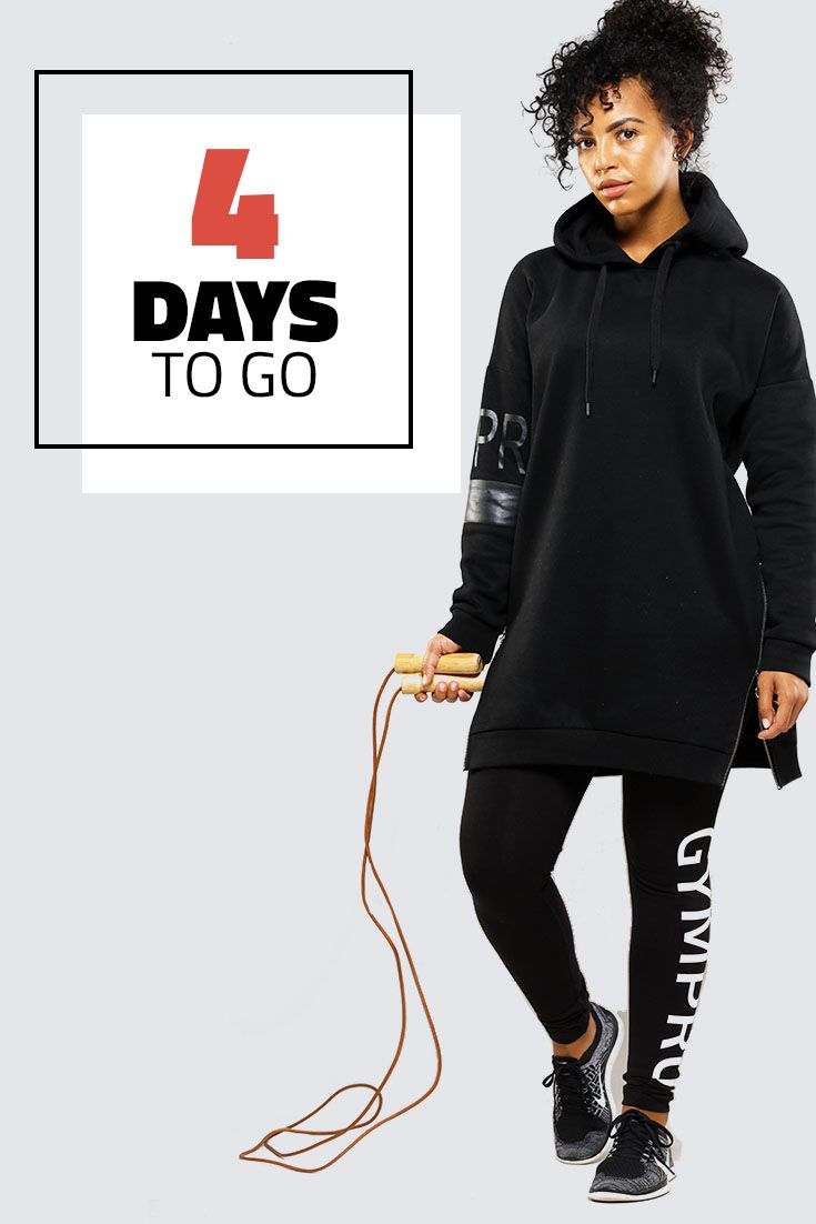 NOW AVAILABLE TO PREORDER FOR DELIVERY IN NOVEMBER  GymPro limited edition longline hoodie in black combines the perfect oversized look with a casual feel. An iconic raised rubber logo. striking back detail panelling combined with its luxury brush back fabric. Perfect for cross season comfort and those cosy nights in.