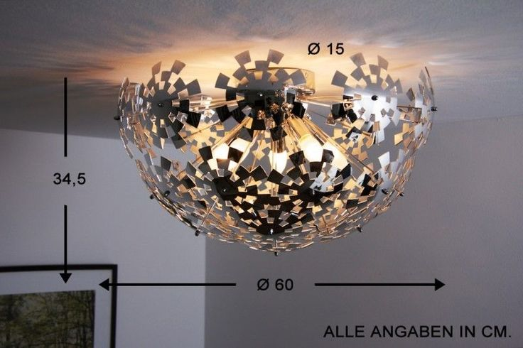 Plafonnier design moderne lustre lampe suspension lampe de salon chrom e 44 - Suspension et lustre ...