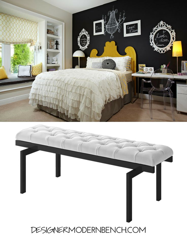 11 best Brice Bench-White Fabric images on Pinterest | Bedroom ...