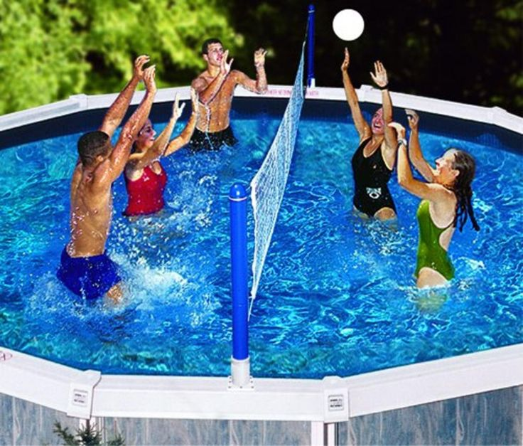 Water Sports Cross Volleyball Swimming Pool Game - Screw-in Net Supports