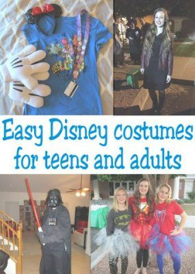 Easy Disney Costumes for Teens and Adults