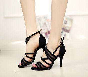 Yeni moda seksi salsa/caz kadın dans ayakkabıları saten latin/balo salonu dans ayakkabıları kız yüksek topuklu artı boyutu 34-42 1126