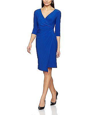 10, Blue (Blue), Wallis Women's Wrap Dress NEW