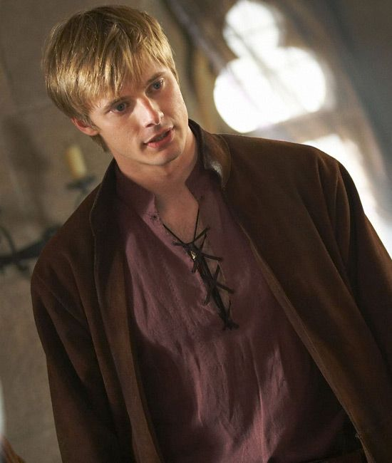 Bradley James as Arthur Pendragon, the once and future king of Camelot