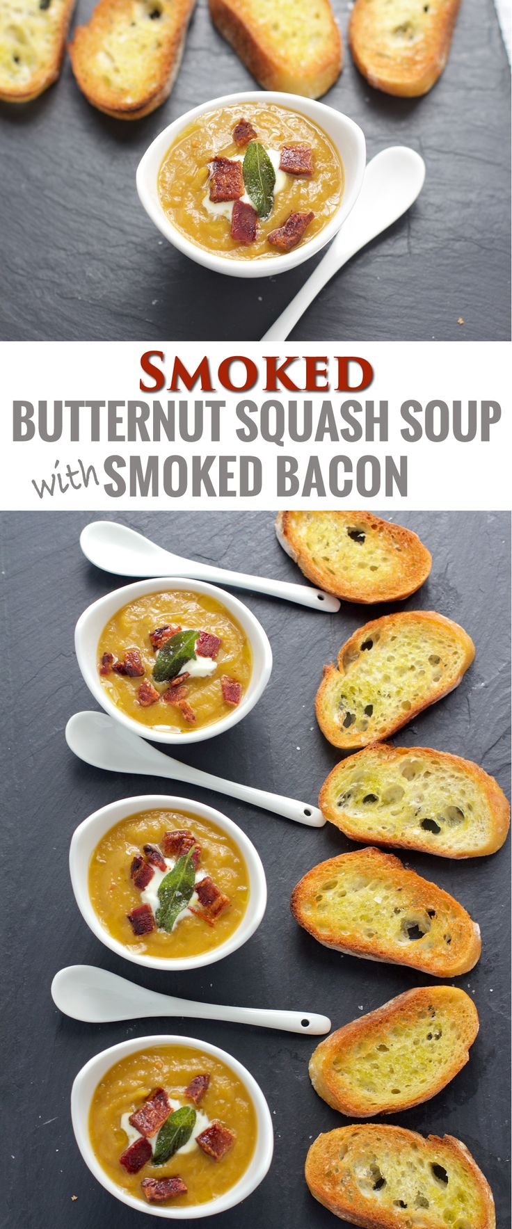 Smoked Butternut Squash Soup with Smoked Bacon | Recipe