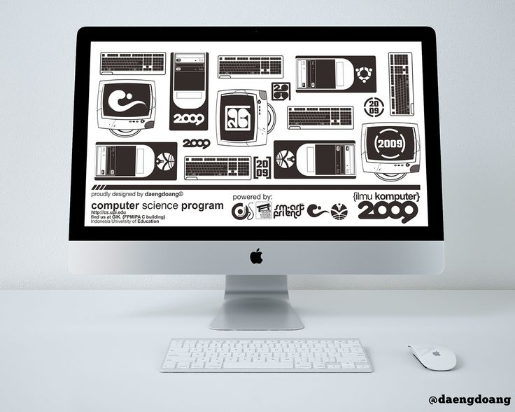 Computer Science UPI 2009 - Desktop Wallpaper Design on Behance