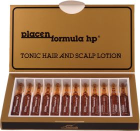 Плацент Формула - этот биостимулятор, который надежно останавливает выпадение волос, дает хорошие результаты при частичном облысении.  В состав препарата входят: протеины, ферменты, витамины, аминокислоты, нуклеотиды и мукополисахариды. Их эффективность подтверждена многочисленными дерматологическими и косметологическими исследованиями. Удостоен наград за победу в конкурсе «Фаворит успеха» в номинациях «Выбор потребителей» и «Выбор успешных людей». 35 $