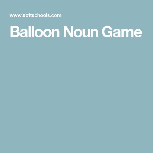 Balloon Noun Game