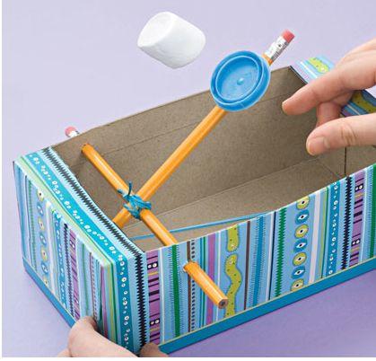 Preschool Crafts for Kids*: Tissue Box Catapult Toy Craft
