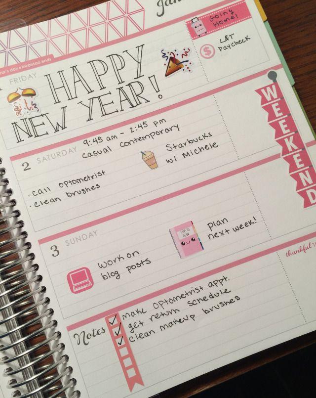 Erin Condren Life Planner Horizontal. More cute planner spreads here! | The Rebel Planner