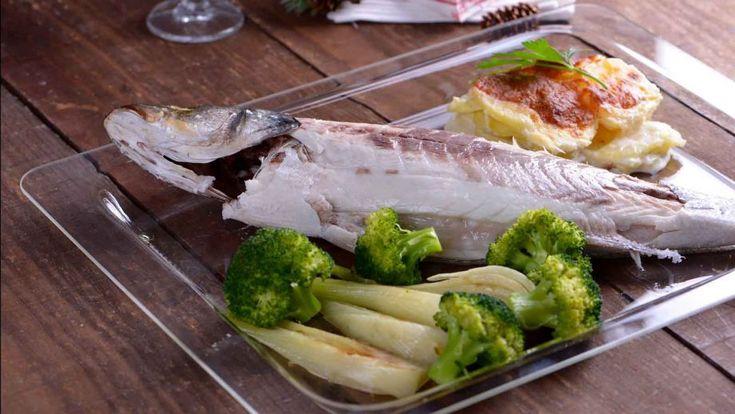 Lubina a la sal con queso y brócoli - Sergio Fernández - Receta - Canal Cocina