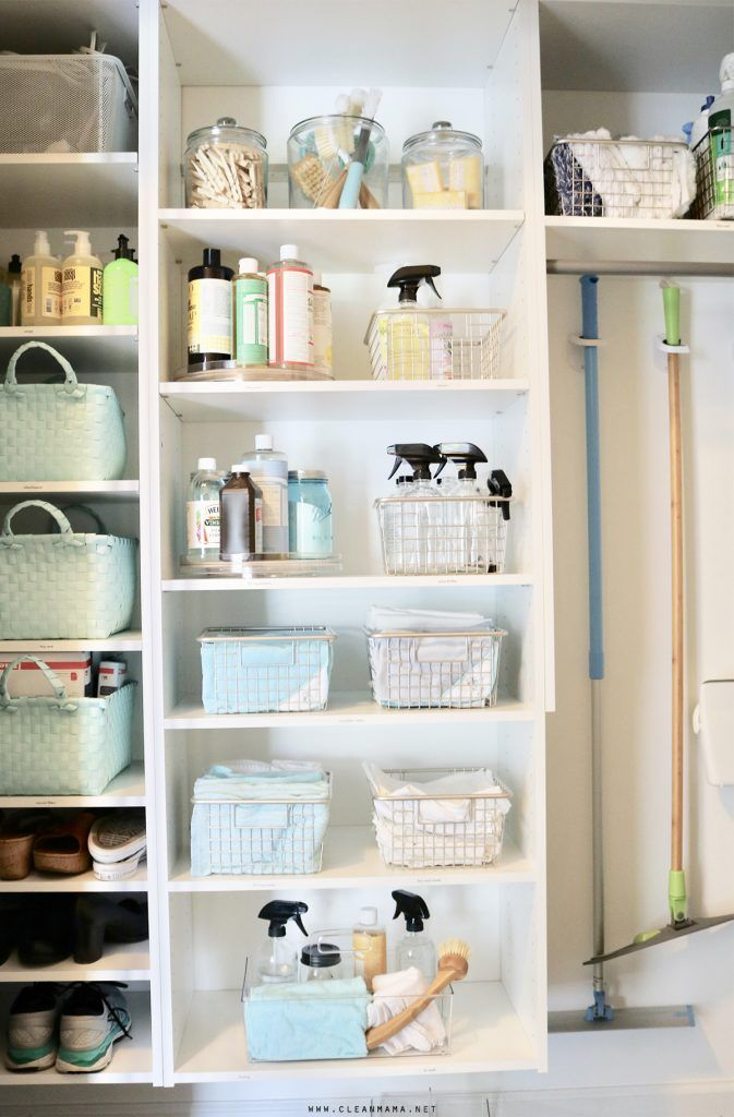 Organized Cleaning Supplies Storage Solutions For Your Products Cleaning Supply Storage Cleaning Supplies Organization Cleaning Closet