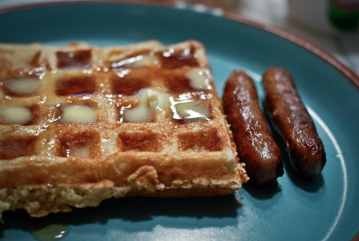 Buttermilk Belgian Waffles with Oats and Cornmeal