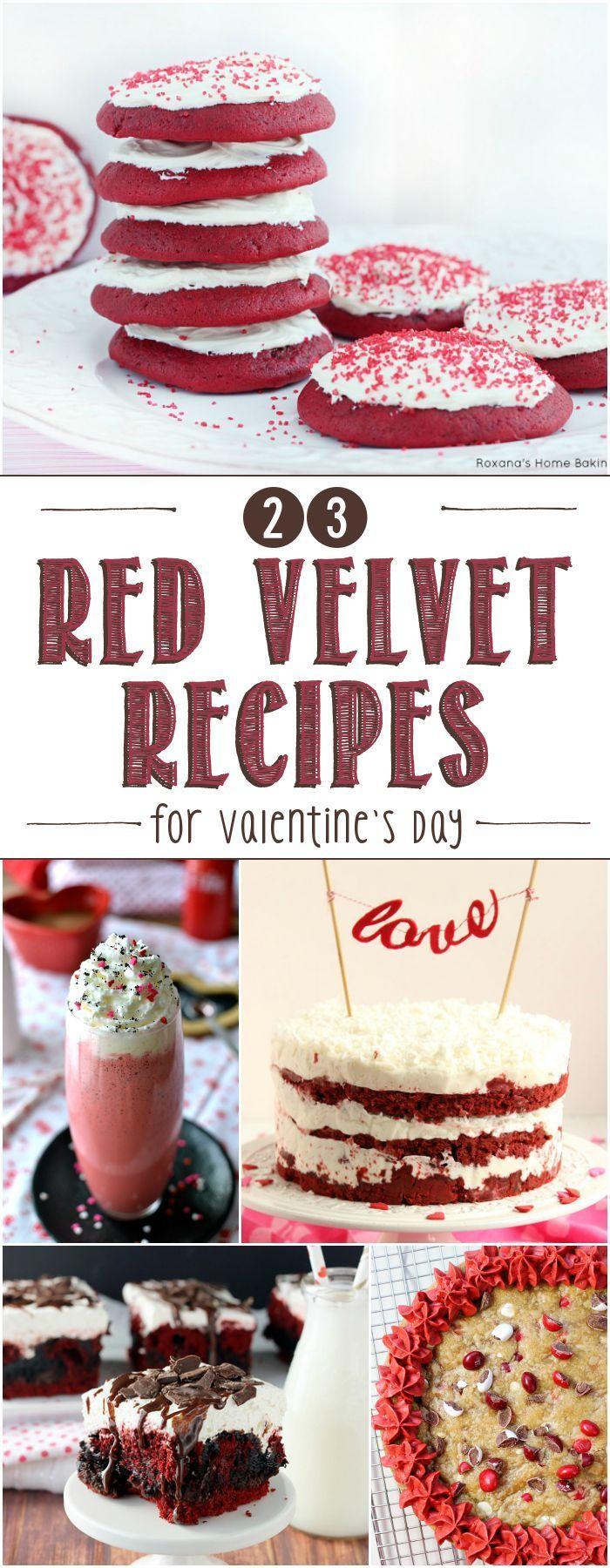 23 RED VELVET RECIPES FOR VALENTINE'S DAY!!