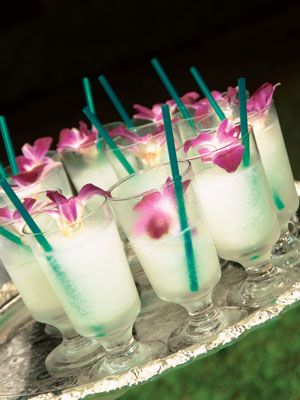 Tropical wedding drinks!: Signature Drinks, Color Themed, Mango Mojito, Food, Weddings Drinks, Drinks Idea, Cocktails, Flower, Luau Drinks
