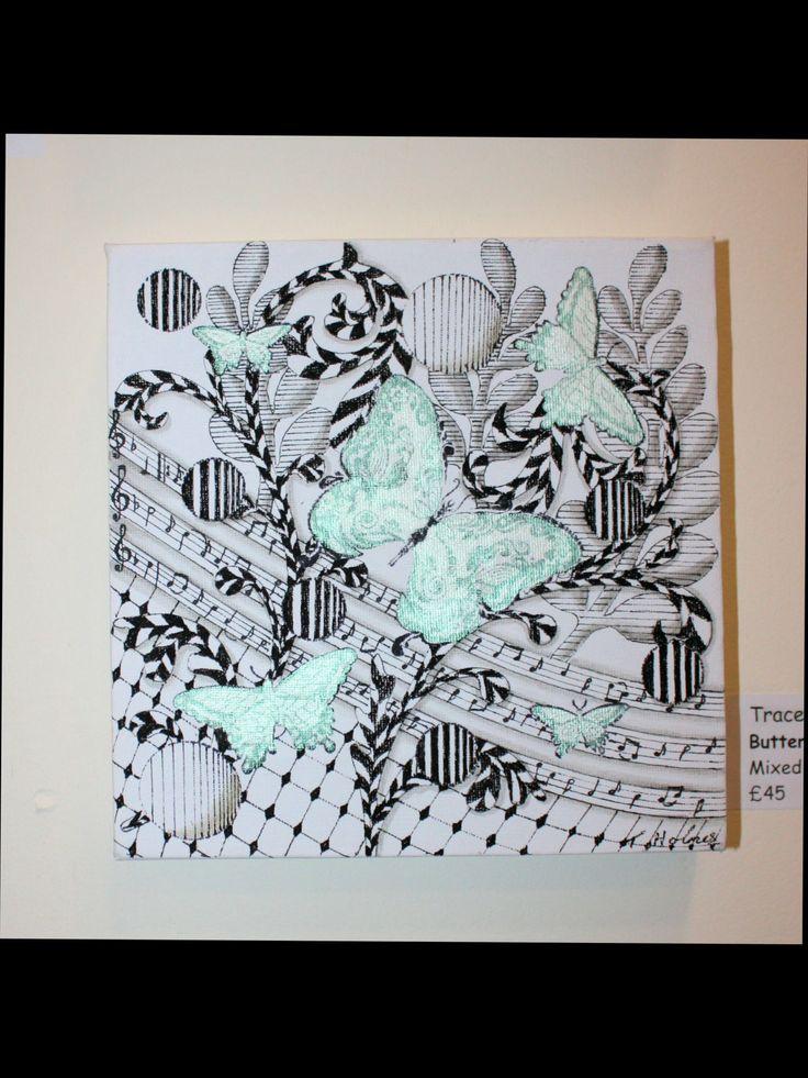 Zen Tangle art on Canvas