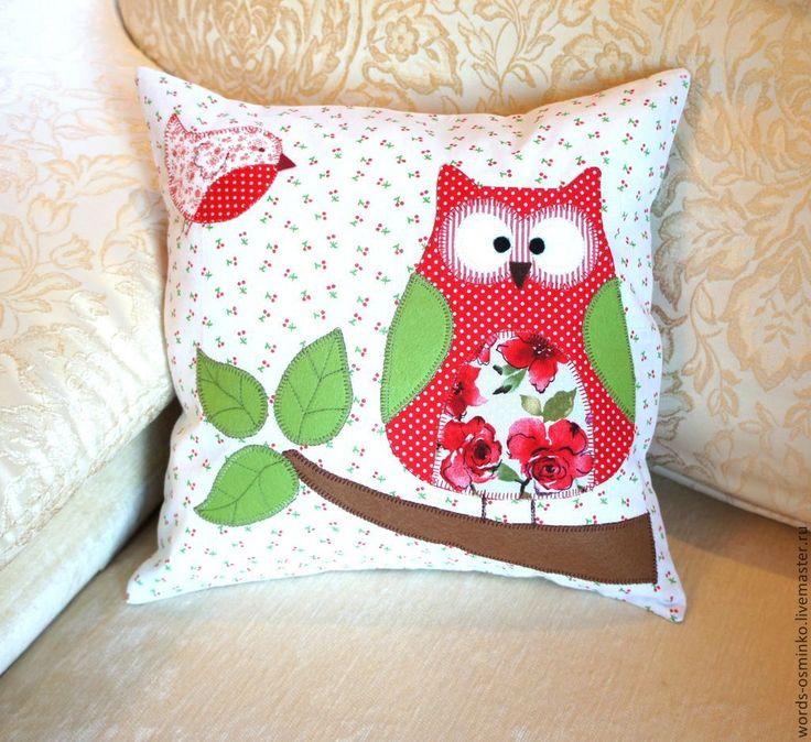 Купить Совёнок (в наличии), 30х30 см / подушка с совой/ декоративная подушка