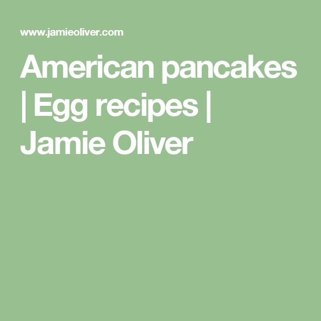 American pancakes | Egg recipes | Jamie Oliver