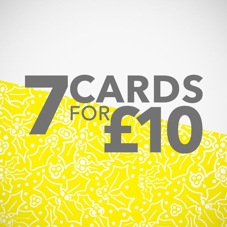 Any 7 cards for 10 pounds! Hand Printed Greetings Card. by YellowHolly on Etsy