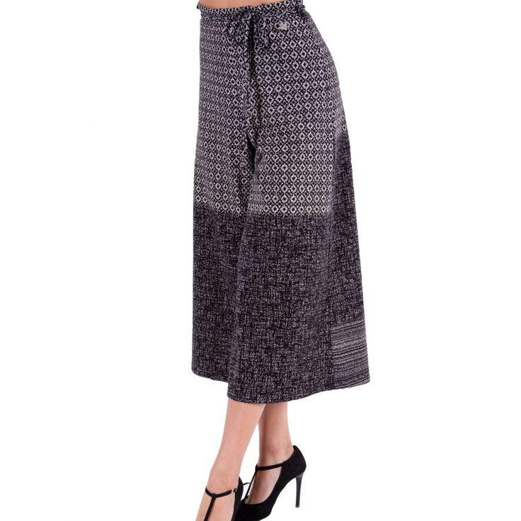 ALE Γυναικεία ελαστική ψιλοκάβαλο ζιπ κιλότ παντελόνα