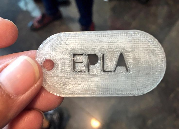 Something we liked from Instagram! This #EPLA Keychain was printed on an ABS #3Dprinter at the #STEMfiesta this morning. Acrylonitrile butadiene styrene (ABS) is a #thermoplastic #polymer commonly used because of its mechanical strength and impact resistant properties. ABS is a terpolymer meaning three different monomers (you can think of a monomer sort of like a distinct kind of molecular Lego piece) are linked together and repeat in a chain. In fact Lego pieces are made with ABS! Proof of…