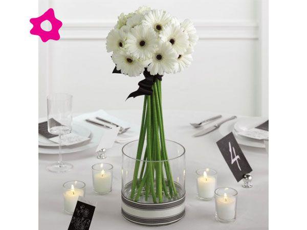 Centros de mesa para boda minimalistas