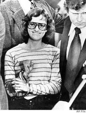 Patty Hearst, throwin' up SLA signs like a G.  // Symbionese Liberation Army