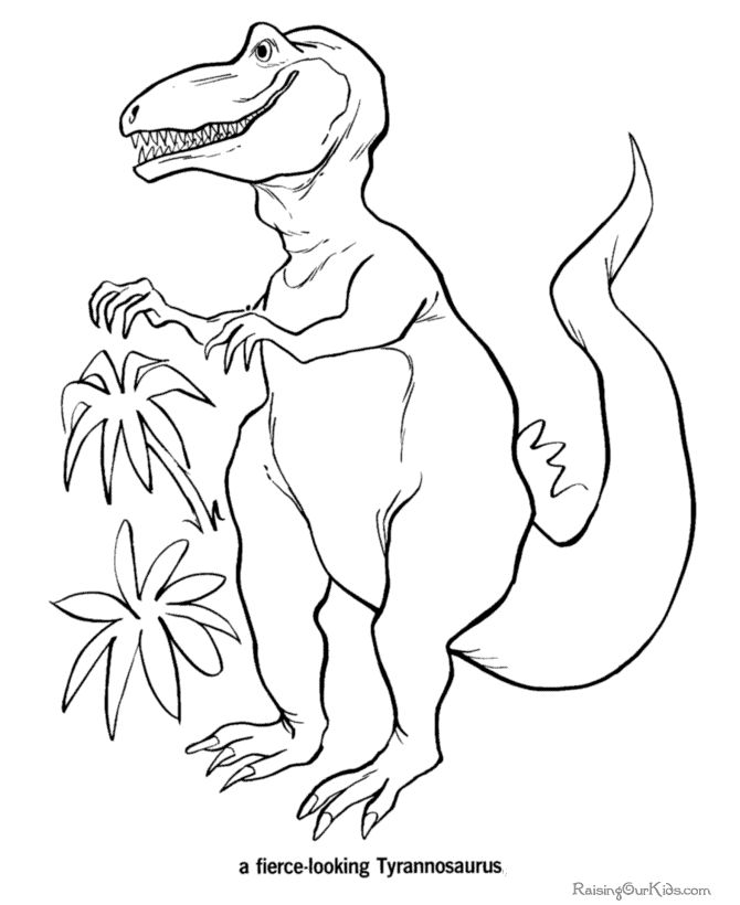 Free Printable Dinosaur Coloring Picture