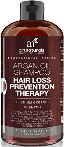 Art Naturals Organic Argan Oil Hair Loss Prevention Shampoo 16 Oz - Sulfate Free -Best Treatment for Premature Hair Loss, Thinning & First Signs of Balding for Men & Women- With Biotin 3 Months Supply - http://essential-organic.com/art-naturals-organic-argan-oil-hair-loss-prevention-shampoo-16-oz-sulfate-free-best-treatment-for-premature-hair-loss-thinning-first-signs-of-balding-for-men-women-with-biotin-3-month/