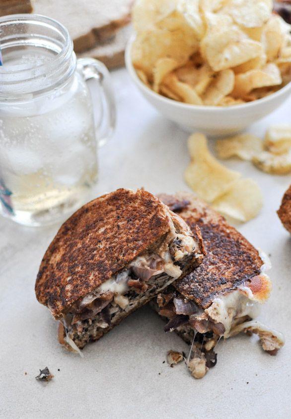 Double Bean Burger Patty Melts | howsweeteats.com