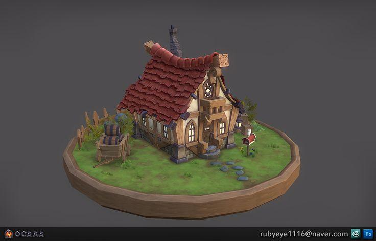 Ocaaa House modeling , JongMin Lim on ArtStation at https://www.artstation.com/artwork/lxBJk