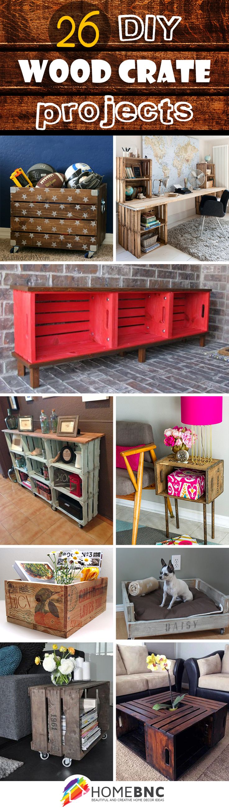 DIY Wood Crate Ideas                                                                                                                                                                                 More