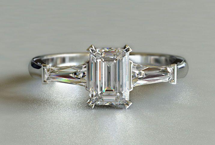 Custom Engagement Ring Ideas | engagement rings nz 021 044 9236 emerald cut diamond engagement ring ...