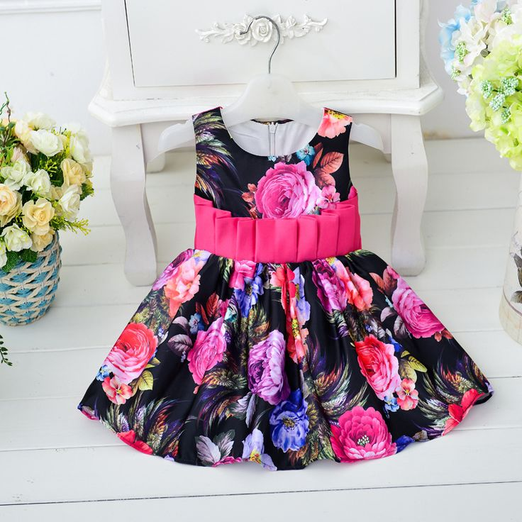 Find More Dresses Information about New 2016  infant baby girl's summer dress sleeveless vest dress printing flower child dresses summer style 0 3year,High Quality flower party dress,China flower embroidery dress Suppliers, Cheap flower girl petal dress from juxuan on Aliexpress.com