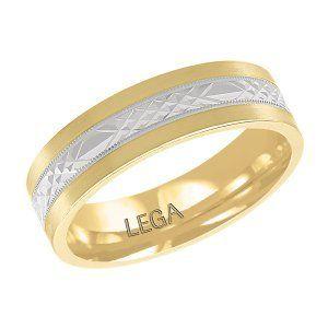 Two Tone Gold Men's Comfort Fit Designer Wedding Band. #gold #ring #wedding #marriage #jewellery #twotone #whitegoldring #yellowgoldring #mensbands #menweddigring #mensrings
