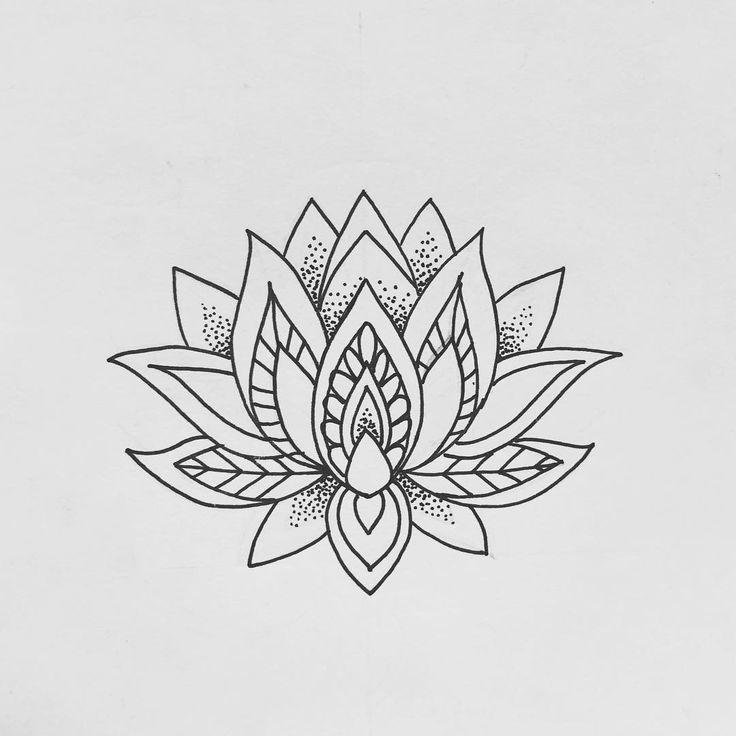 лотос цветок рисунок тату встали