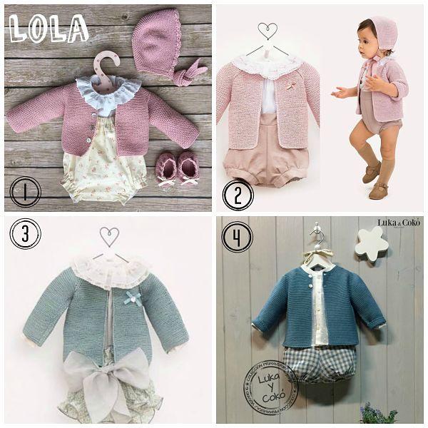 Tutorial que muestra el paso a paso para tejer una chaqueta de bebé en punto bobo a dos agujas o con agujas circulares.