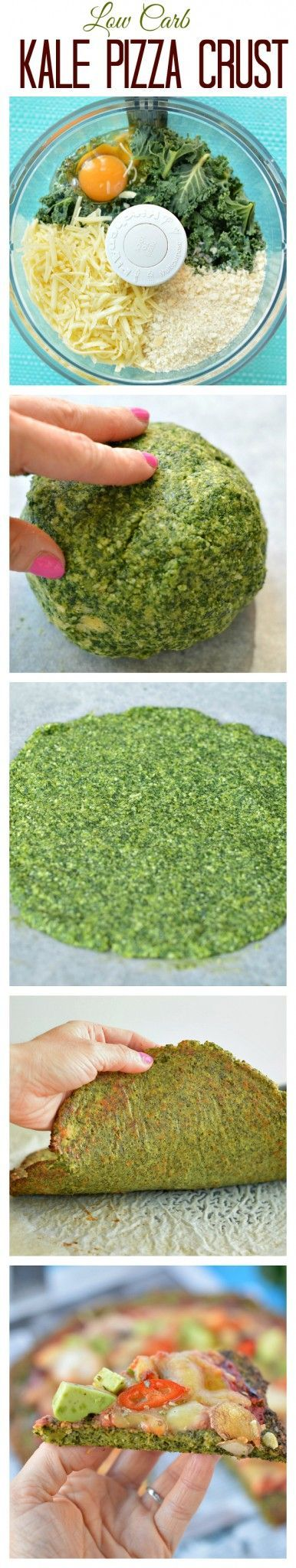 My fav Healthy Pizza Crust ! This Low Carb Kale Pizza Crust is made with only 5…