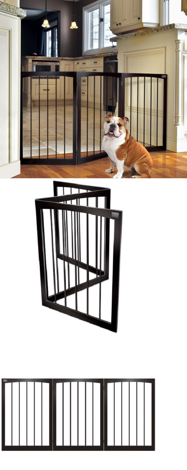 Fences and Exercise Pens 20748: Pet Supplies For Dogs Gates Free Standing Gate Wide Wood Divider Modern Decor -> BUY IT NOW ONLY: $44.7 on eBay!