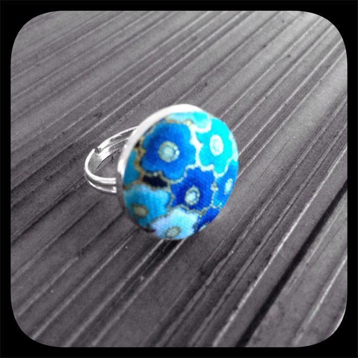 Kon-iro Sakura (Deep Blue Blossom): Bezel Set Ring (Medium).  www.madeit.com.au/YouPlusMeAndMissLilyMakesThree