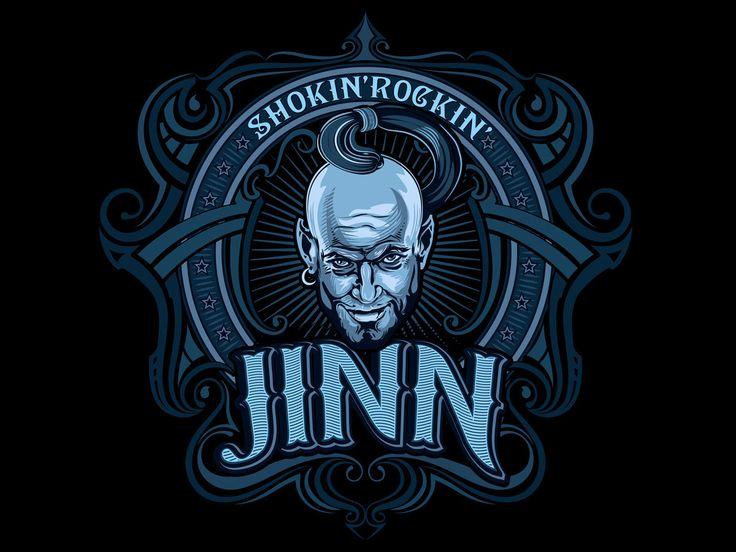 Artwork logo music group Jinn.