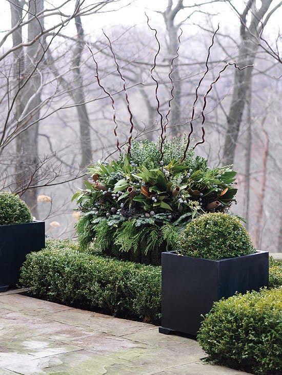 Spectacular outside Holiday arrangement