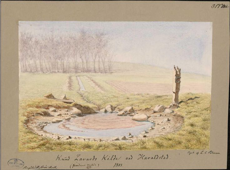 The holy well of Knud Lavard in Haraldsted parish.