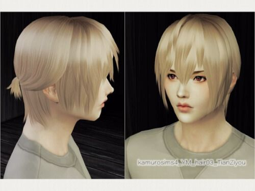 Male Ponytail Hair For The Sims 4 The Sims 4 Downloads